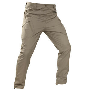 Men Cargo Pants Trousers Straight Bottoms Multi Pockets Outdoor Work Casual Zip
