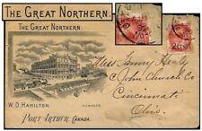 Canada 1899 Port Arthur Great Northern Hotel/Train