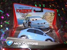 "DISNEY PIXAR CARS ""NICK CARTONE"" Die-Cast Metal, Scale 1:55, Mattel, NEW"