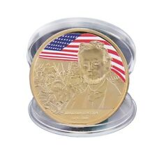 WR Abraham Lincoln Gold Plated Coin US Presidential Souvenir Art Craft GiftXBUK