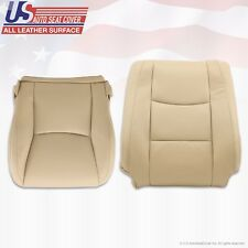 Fit 2003 - 2009 Lexus GX470 Front Passenger Bottom & Lean Back Leather Cover TAN