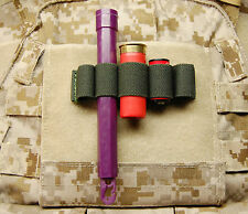 Chemlight Shotgun Shell CR123 Battery Holder Cyalume Surefire OD Multicam Hook
