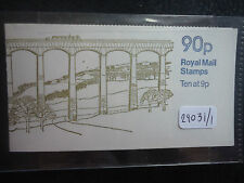 Great Britain folded booklet 1978 90p llangollen cylinder 25 dot. (Fg3a) Lm Mnh