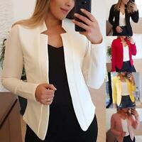 Women Csaual Slim Blazer Suit Jacket Coat Formal Career Outwear Tops Plus Size