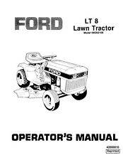 NEW HOLLAND Ford SE4535 Lt 8 Lawn Tractor 09GN2108  OPERATORS MANUAL