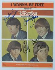 "THE MONKEES Signed Autograph ""I Wanna Be Free"" Sheet Music x4 Peter Tork, Davy"