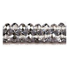 Fil De 70+  Gris Cristal Bohème 8 x 10mm Rondelle Facetté Perles GC3525-4
