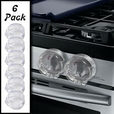 6 Pack Clear Stove Knob Safety Covers - Child Proof Lock for Kids Toddlers Baby