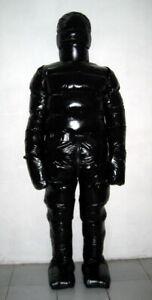 Glossy Shiny Nylon Wetlook Down Suit Winter Overalls PVC Fetish glanznylon S-5XL