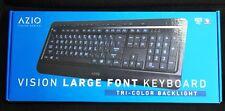 AZIO Vision Large  Font Tri-Color backlight Keyboard (KB505U)