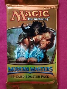 Magic The Gathering MODERN MASTERS 2013 1ST EDITION MM1 Sealed Booster Pack MTG