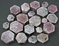 1/4 lb Ruby Corundum / Natural Ruby / Ruby Hexagon Crystals (4 oz, 500 Carat +)