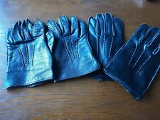 2 Pairs MENS VINTAGE   REAL LEATHER DRIVING GLOVES LARGE and MEDIUM