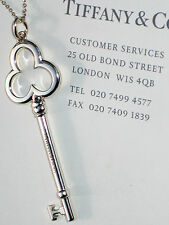 Tiffany & Co Keys Grand Trèfle Argent Sterling Clé 20 in (environ 50.80 cm) Collier