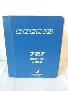 Vintage 1970s Piedmont Airlines Boeing 727 Aircraft Operations Manual Pilot