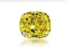 Diamond Natural Color Fancy Vivid Yellow 1.02 carat Loose Cushion Cut GIA cert