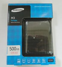 "Samsung M3 Slimline 500gb 2.5"" USB 3.0 External Portable Hard Drive HDD"