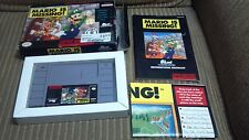Mario is Missing! COMPLETE IN BOX SNES Super Nintendo game