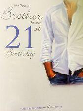 Brother 21st Birthday Card
