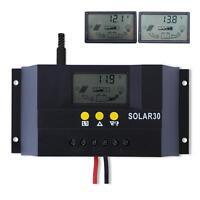 Sun YOBA LCD 30A 12V/24V PWM Solar Panel Controller Regulator Charge Battery MT