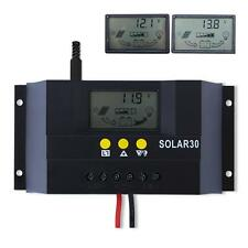 LCD 30A Solar Charge Controller 12V/24V Auto Switch PWM Battery Regulator SA