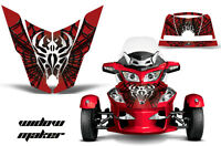 Roadster Hood Graphics Kit Decal Wrap For Can-Am BRP RT-S Spyder WIDOW BLACK RED