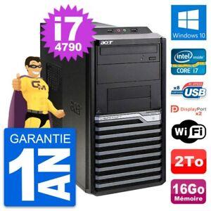 PC Tour Acer Veriton M4630G Intel i7-4790 RAM 16Go Disque 2To Windows 10 Wifi