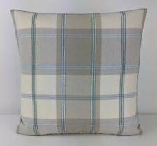 "John Lewis Harrow check Fabric cushion cover 16""x16"" Contemporary Cornflower"