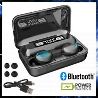 AURICOLARI BLUETOOTH 5.0 CUFFIE SPORT WIRELESS SENZA FILI TWS IN EAR POWER BANK