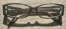 Vtg Glasses Eyeglass Frames Black Green Plastic Rectangular Unbranded