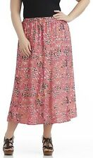 Women's Plus Size Skirt 1X, 2X, 3X Notations Animal Print OR Floral