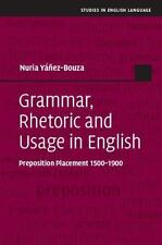 Studies in English Language: Grammar, Rhetoric and Usage in English :...