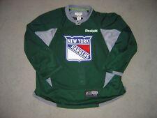 New York Rangers green PRO Reebok game used practice jersey