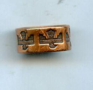 50s Old Pawn VTG BELL TRADING POST Copper Thunderbird Southwest Cigar Band Ring