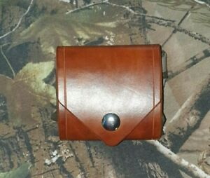 Hand Made Leather Bushcraft Foraging Pouch with belt loop