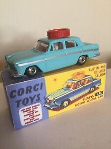 Corgi Toys 236 Austin A60 De Luxe Saloon Motor School Car + Free Repro Box.