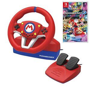 Hori Mario Kart Racing Wheel Pro Mini + Mario Kart 8 Deluxe for Nintendo Switch