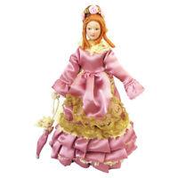 1/12 Dollhouse Miniature Victorian Dolls Elegant Lady/Girl Purple Skirt PP007G