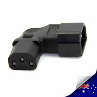 1 x IEC 320 C14 to Right Angle C13 Male to Female AC Power Adapter (P010)