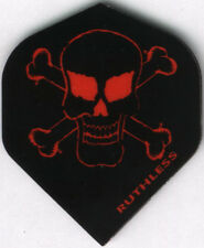 Red Skull and Bones RUTHLESS Dart Flights: 3 per set