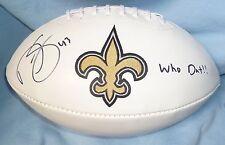 Darren Sproles Signed Saints Football Ball PSA/DNA COA Autograph w/ Who Dat Auto