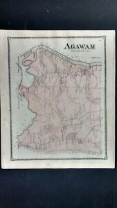 1870 Beers Atlas Map, Agawam, MA  #18