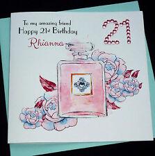 Handmade Personalised Perfume Birthday Card