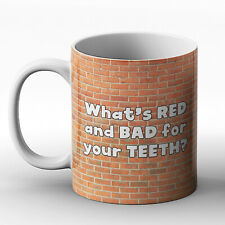 What's red and bad for your teeth? - Printed Mug