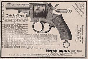 Waffen, Handfeuerwaffen - Bulldog-Revolver - Stich, Holzstich 1882