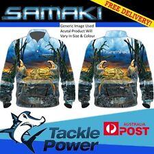 Samaki Long Sleeve Fishing Shirt Mudcrab - Adult and Child Sizes - Brand New!