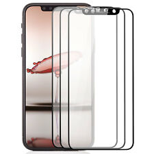 3x 3D Hartglas für iPhone X - Displayschutz Folie komplett Full Cover Glas 9H