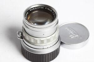 Leica Ernst Leitz GmbH Wetzlar Summicron f=5cm 1:2 GERMANY 2/50 Leica-M