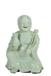👀Antique Chinese White Glazed Porcelain Immortal Figurine.