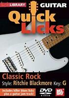 Guitar Quick Licks Classic Rock In The Style Of Ritchie Blackmore DVD